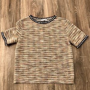 Zara Tweed Shirt Sz Large